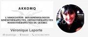 Véronique Laporte- kinésiologue-Kinésithérapeute