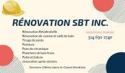 Rénovation SBT Inc