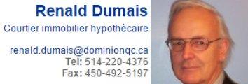 Renald Dumais Courtier immobilier Hypothécaire Centre Hypothécaire Dominion