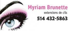 Myriam Brunette Extentions de Cils