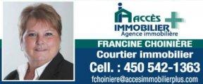 FRANCINE CHOINIÈRE Courtier immobilier Acces Immobilier Plus
