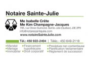 NOTAIRE SAINTE-JULIE