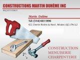 CONSTRUCTIONS MARTIN DUHÈME INC