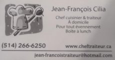 Jean-Francois Cilia Chef Gourmet à Domicile