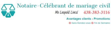 Notaire-Célébrant de Mariage Civil Me Leopold Lincà