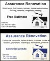 Assurance Rénovation