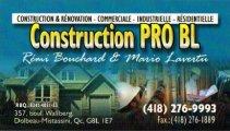 CONSTRUCTION PRO BL INC