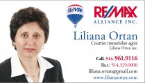 Liliana Ortan Courtier Immobilier Agréé - REMAX Alliance