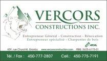 Vercors Construction Inc