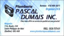 PLOMBERIE PASCAL DUMAIS INC