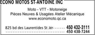 Econo Motos St-Antoine Inc