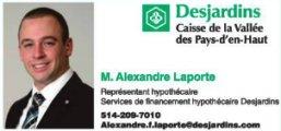 Alexandre Laporte  Représentant hypothécaire