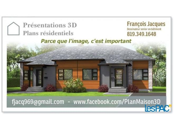 Plan de maison 3d sherbrooke for Dessin batiment 3d
