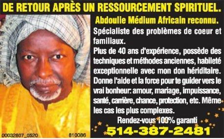 Abdoulie Medium Africain Reconnu A Montreal Entreprise Anugo Ca