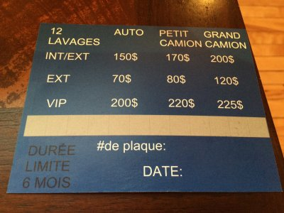 promotion : Lave Auto Empire Des V.I.P