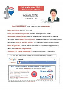 promotion : Liliana Ortan Courtier Immobilier Agréé - REMAX Alliance